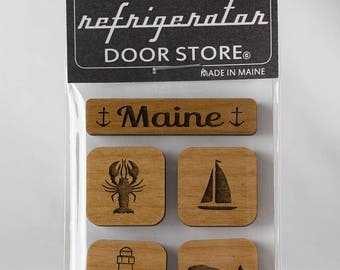 Housewarming gift. Refrigerator Magnet. Fridge Magnets. Kitchen Magnets. Magnets. Maine.