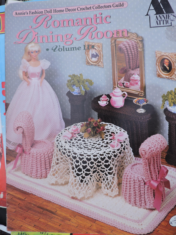 Romantischen Speisesaal Annie Mode Puppe Haus Dekor häkeln