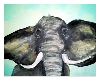 Cute Elephant Art for Kids Children or Young at Heart Art Print