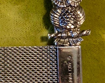 Sarah Coventry Vintage silver owl bracelet
