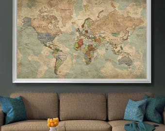 Decorative extra large world map push pin travel wall art push pin travel map of world vintage map push pin map push pin world map world map poster wall art large wall art l128 gumiabroncs Image collections
