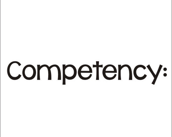 Competency Decal Whiteboard Decal School Vinyl Decal Teacher Classroom Elementary Decal Wall Decal Vinyl Decal Competency Vinyl School Decal