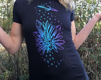 Space Crystals Womens Shirt