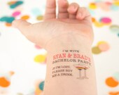 Gay Bachelor Party, Gay Temporary Tattoos, Gay Wedding, Bachelor Party, Bachelorette Party, Custom Tattoo, Personalized Tattoo ,LBGT