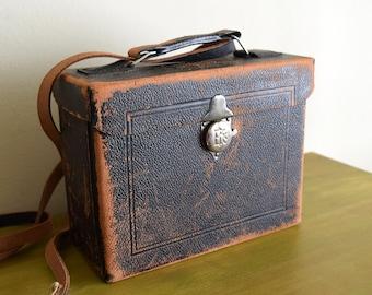 Vintage Leather Crossbody Camera Case ~ Urban, Industrial, Boho, Curio Purse