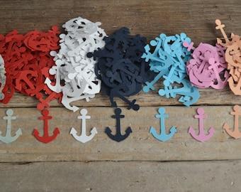 "Anchor Cutouts, Confetti, Card Confetti,Scrapbooking, Craft Supply, Embelishment, Nautical (1"") | 100 Pieces"