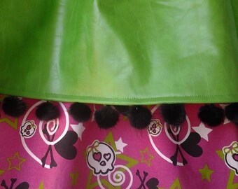 CLEARANCE!!! Rocker Girl Pink and Green Curtains
