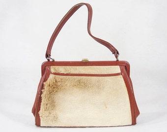 Vintage 60's MORELLA PRODUCT Genuine Fur Handbag