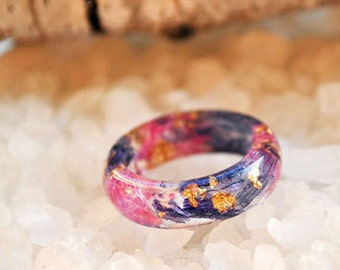 eco resin ring,resin nature ring, nature inspired jewelry, terrarium ring, cocktail ring, flowers in resin,real flower ring, wedding ring