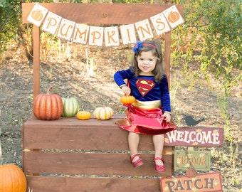 Pumpkin banner - Pumpkin stand banner - Pumpkin photo prop banner