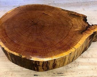 "Thick Large Oak Centerpiece (polyurethane finish) 16-21.5"" across 3.25 inches"