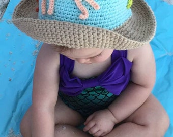 99% Cotton Crocheted Baby-Adult Sun Hat