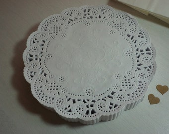 """50/100/200 Embossed Paper Lace Doilies 6"""" (153mm) ~ *favours *wedding *baby shower *high tea* + POST"""