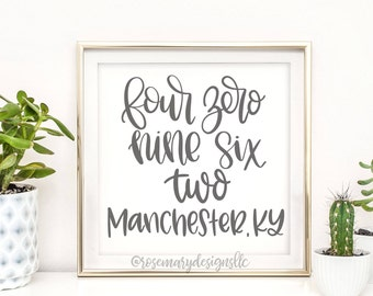 Manchester, KY Hand Lettered Zip Code