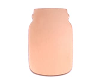 Metal Blank Copper Mason Jar, 24 gauge (CO295)