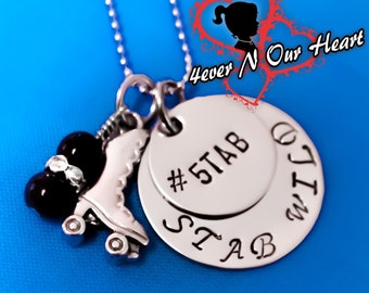 Personalized Hand Stamped Roller Derby Necklace