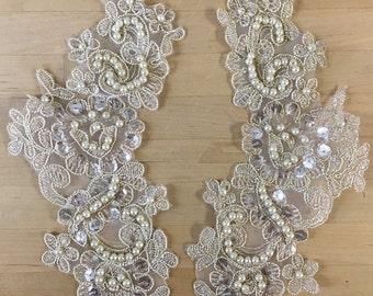 Gold Beaded Appliques, Sweaters, Bridal, Bridesmaids Sashes, Lyrical Dance, Ballroom Dance, Costumes, Bridal