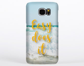 AA - 'Easy Does It' - Alcoholics Anonymous Phone Case for iPhone 5/5s, 6/6s, 6 Plus, 7, Galaxy S6, Galaxy S5
