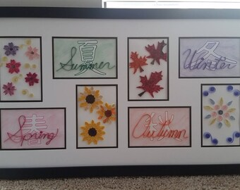Four Seasons -Paper Quilling Art, Home Decor
