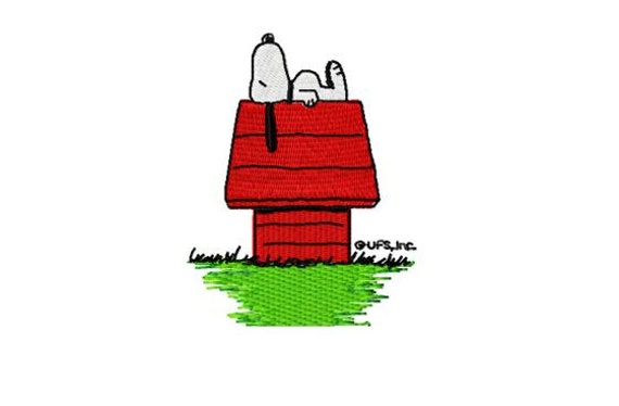 Snoopy schläft Stickmuster Instant Download 10 Formate