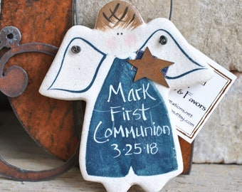 First Communion Gift Personalized Salt Dough Ornament Religious Gifts Keepsake