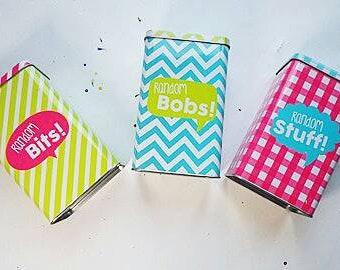 Colorful Storage Tins - Metal Containers