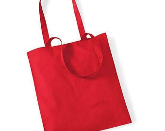 Cotton red bag to create your tote bag: 37 x 40 cm. Customize it!