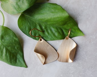 Seoul Brass Earrings // Two Finishes Available