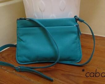 handbag, shoulder bag, leather, beautiful turquoise blue.