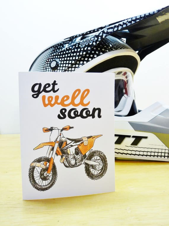 Dirt bike motocross get well soon card