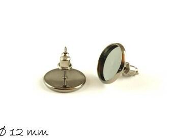 Studs Black, 12 mm earrings plug