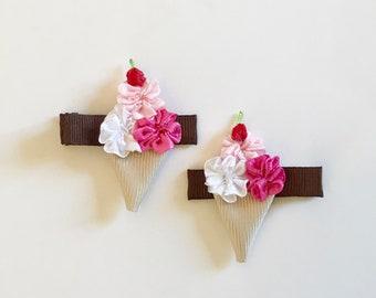 Ice Cream Cones Clip Set