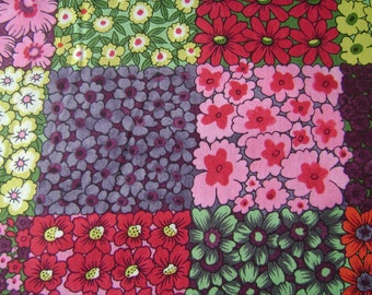 Magical Garden Floral Patch Cotton Fabric by the yard