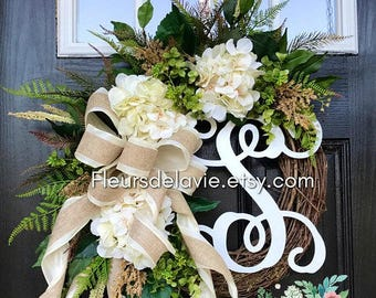 Farmhouse Wreaths, Front Door Wreaths, Spring Door Wreaths, Spring Wreath