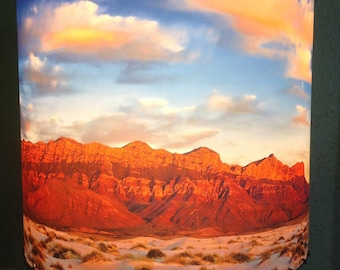 Guadalupe Mountains at Sunset Lampshade