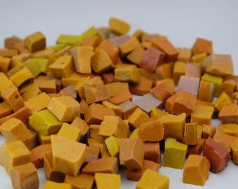 Hand-Cut Mosaic Smalti - Color Mix-  - 1/2 pound - 100 pieces - 10 mm x 10 mm