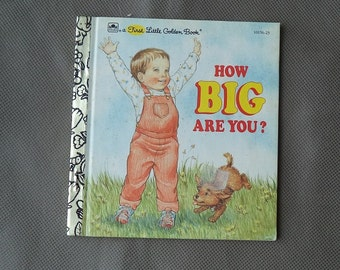 First Little golden book ,Vintage story book , 1993 Children's book ,How big are you, collectors gift