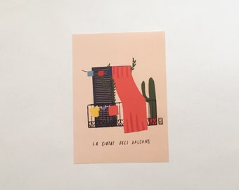 City of balconies - Barcelona - limited print