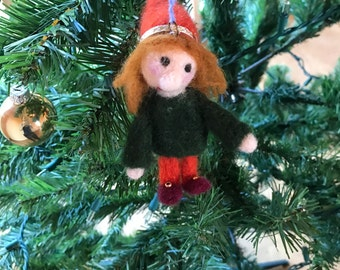 Needle Felted Gnome Ornament