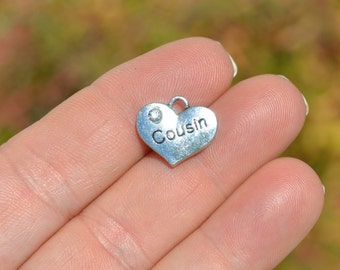 5 Cousin Silver Tone Heart Shaped Charms SC3024