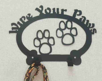 Wipe Your Paws Hook -Holds leashes, treat bags, towels, etc...