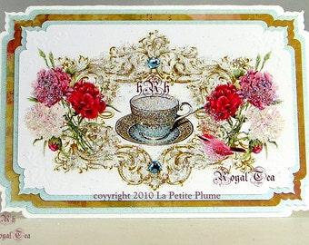 Ihre Royale Hoheit, Französisch Bleu Royale Dalton inspiriert, zierliche Grußkarten, Schweizer importierten französischen Bleu Umschläge