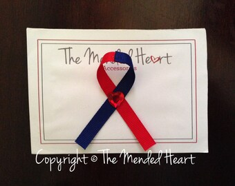 Handmade CHD Ribbon Pin