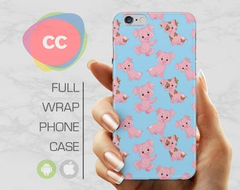 Piggy Pigs Phone Case - iPhone 7 Case - iPhone 8 Case - iPhone 6, 5S, 5, SE Cases - Samsung S8, S7, S6 Case - iPhone Covers - PC-274