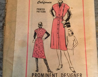 Vintage Willi of California Sewing Pattern A800 Size 12 Blouse Jumper