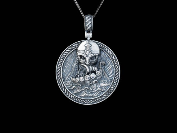 Odin pendant silver handmade viking nordic jewelry aloadofball Gallery