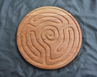 Wooden labyrinth, finger labyrinth, wooden game, labyrinth, meditation assistant, wood labyrinth, wooden finger labyrinth, calming, relax
