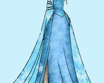 Latch Hook Rug Pattern for Elsa Kingdom Hearts Princess