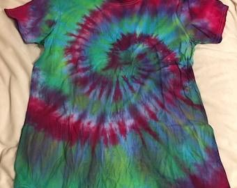 Hand-Made Spiral Halloween T-Shirt Size M