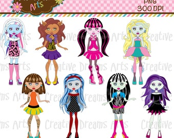 40% Off! Monster Girls Inspiration digital Art Instant Download